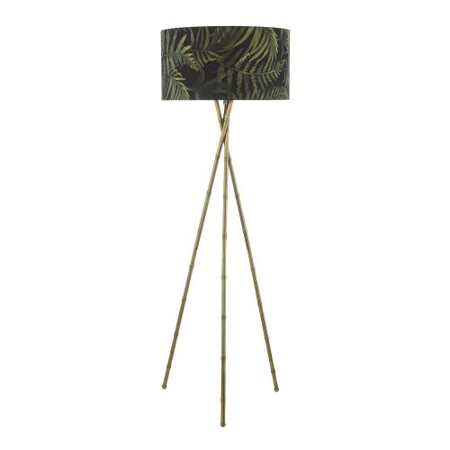 Bamboo Floor Lamp Antique Brass Base Only, double insulated, BXBAM4975-17